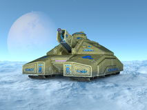 Tank. 3D illustration of a tank Stock Photos