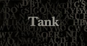Tank - 3D rendered metallic typeset headline illustration Stock Images