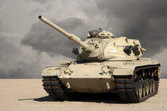 Tank in de Woestijn Royalty-vrije Stock Afbeelding