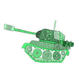 Tank doodle. Fighting war machine. army panzer Stock Photography
