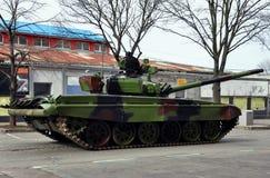 Tank on the empty street Stock Photos