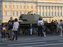 Tank en mensen Royalty-vrije Stock Afbeeldingen