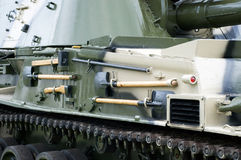 Tank Equipment. New battle tank fully equipped Royalty Free Stock Images