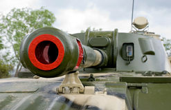 Tank Equipment. New battle tank fully equipped Royalty Free Stock Photography
