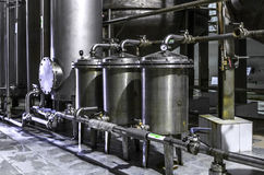 Tank equipment. Pharmaceutical and chemical industry. Manufacture on plant Stock Images