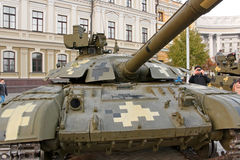 Tank on exhibition of military equipment in Kyiv Royalty Free Stock Photography