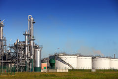 Tank farm. A chemical tank farm and refinery plant Stock Photography