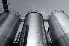 Tank farm with pipeline #5 Stock Photography