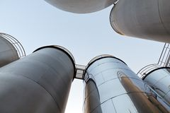 Tank farm with pipeline #7 Royalty Free Stock Image