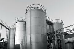 Tank farm with pipeline #8 Royalty Free Stock Images