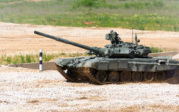 Tank on a field Royalty Free Stock Image