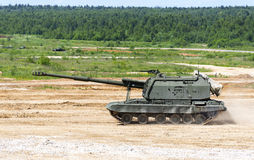 Tank on a field Stock Photography