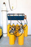 Tank Filling Station Stock Image