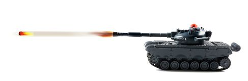 Tank  Fire Power. Tank fire power with tank firing Stock Images