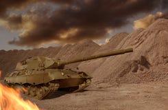 Tank Firefight Stock Photo