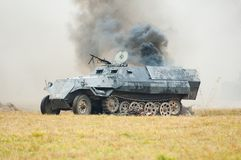 Tank firing Royalty Free Stock Photography