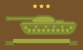 Tank Flat Icon Stock Photography