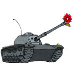 Tank & flower Royalty Free Stock Photos