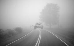 Tank in the fog Stock Photos