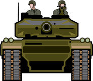 Tank Front Stock Image
