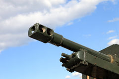 Tank gun barrel Royalty Free Stock Photos