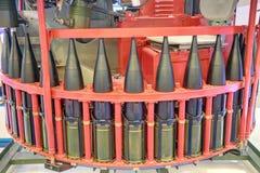 Tank guns. Automatic mechanism loading tank guns of the carousel type Stock Photos