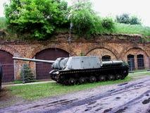 Tank. Heavy tank in the barracks Stock Photography