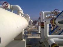 Tank het verticale staal Capaciteiten voor opslag van olieproducten Stock Afbeelding