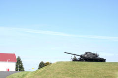 Tank on a hill Royalty Free Stock Photos