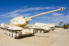 Tank hunter - war trophy. Self-propelled tank hunter from Egypt (T-34 chassis) displayed in the museum Royalty Free Stock Photo