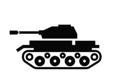 Tank icon. Vector black Tank icon on white background Royalty Free Stock Photos