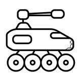 Tank icon vector royalty free illustration