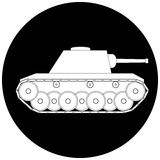 Tank icon Stock Photography