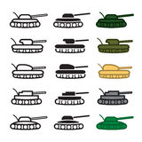 Tank icons set. Vector eps 10. Stock Image