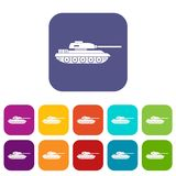 Tank icons set Royalty Free Stock Photo