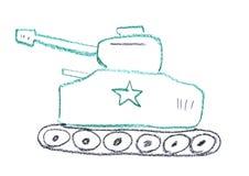 Tank illustration Stock Photography