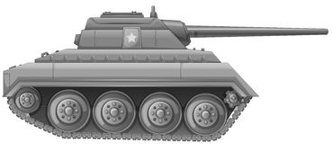 Tank. Illustration of a tank on a white background Royalty Free Stock Image