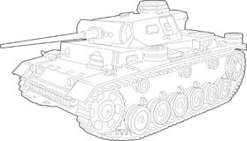tank ilustracyjny Zdjęcie Stock