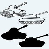 tank Insieme dei veicoli militari royalty illustrazione gratis