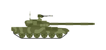 Tank isolated vector illustration. Royalty Free Stock Photography