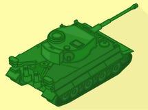 Tank isometric flat vector 3d Royalty Free Stock Photo