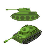 Tank Isometric on white background. Army technique. Armored figh. Ting vehicles, tracked with gun and machine gun Royalty Free Stock Photos