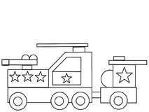 Tank kids high quality coloring page Royalty Free Stock Photography
