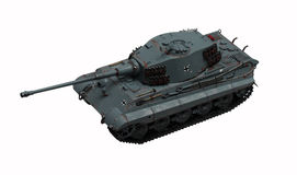 Tank King Tiger. The model tank King Tiger 2 of WW2 stock images