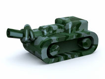 Tank with knot in the cannon, stop the war Royalty Free Stock Images