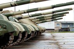 Tank in lijn Royalty-vrije Stock Foto
