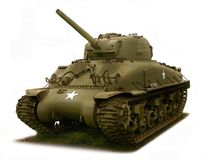 Tank, M4 Sherman illustration stock illustration