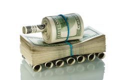 Tank made ​​of money Royalty Free Stock Photo