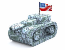 Tank made of dollars Stock Photo