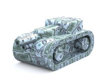 Tank made of dollars Royalty Free Stock Photography